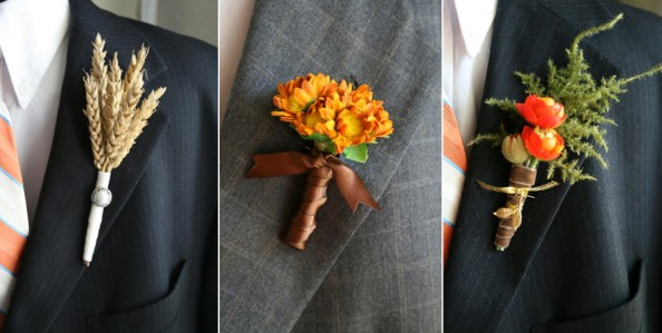 Wedding Flower Ideas For Groomsmen : Groomsmen fall boutonnieres - Inspiration - Project Wedding Forums