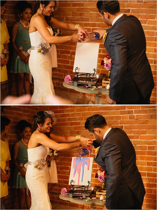 Paint Wedding Ceremony